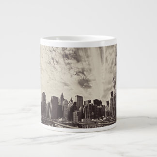 Vintage Style New York City Skyline Jumbo Mugs