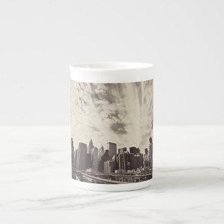 Vintage Style New York City Skyline Bone China Mug