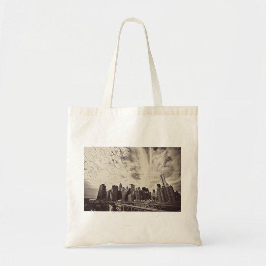 Vintage Style New York City Skyline Tote Bag