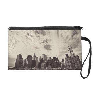 Vintage Style New York City Skyline Wristlet Purse