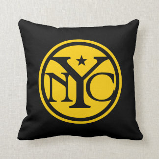 Vintage style New York logo Pillow