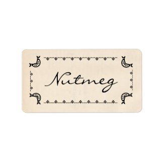 Vintage-Style Nutmeg Labels