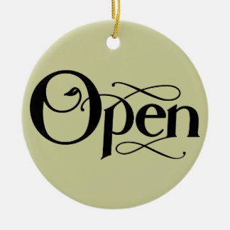 Vintage Style Open Closed Sign Ceramic Ornament