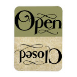 Vintage Style Open Closed Sign Flexible Magnet