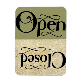 Vintage Style Open Closed Sign Rectangular Photo Magnet