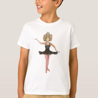 Vintage style painting of  Dancer in Black Tutu T-Shirt
