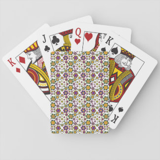 Vintage-Style Paisley Flower Design Background Playing Cards
