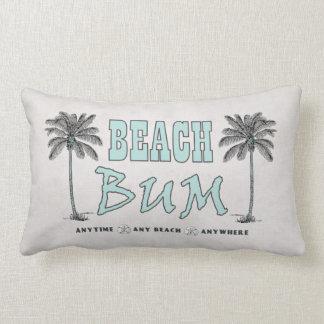 Vintage Style Palm Trees Beach Bum Lumbar Pillow