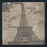 "Vintage Style Paris coaster<br><div class=""desc"">Vintage look image of the Eiffel Tower in Paris,  France on a stone coaster.</div>"