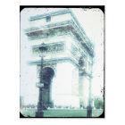 Vintage Style Paris Post Card, The Arc de Triomphe Postcard