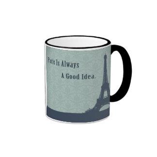 Vintage Style Paris Quote Ringer Mug
