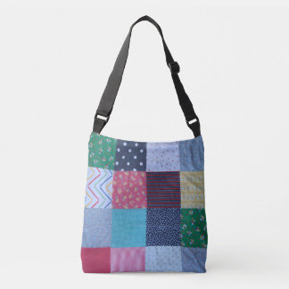 vintage style patchwork fabric design colorful crossbody bag