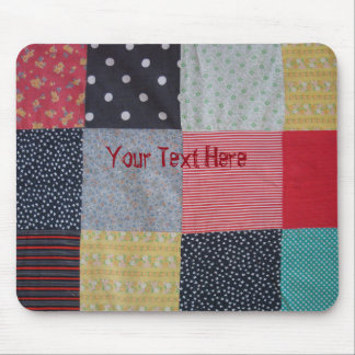 vintage style patchwork fabric design colorful mouse pad