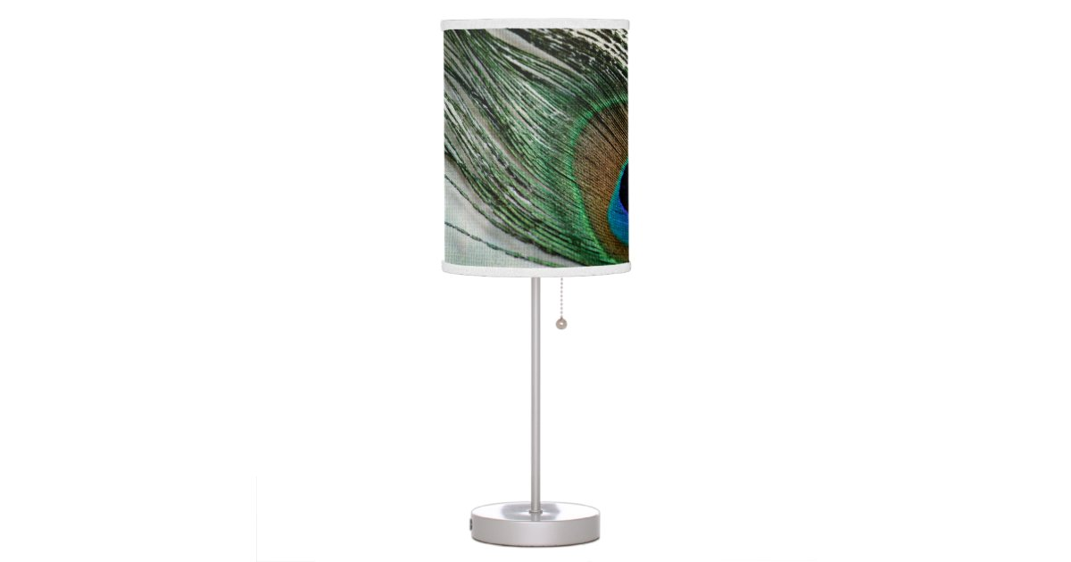 Vintage Style Peacock Feather Table Lamp Zazzle