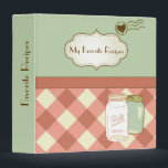 """Vintage Style Personalized Recipe Binder<br><div class=""""desc"""">Red and blue gingham vintage style personalized recipe binder,  ready for you to keep track of all of your favorite recipes.</div>"""