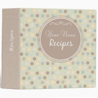 Vintage Style Personalized Recipe Binder