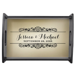 Vintage Style Personalized Serving Tray