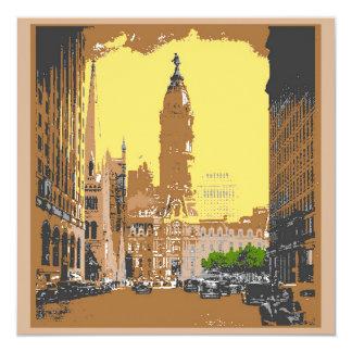 Vintage Style Philadelphia City Hall Card