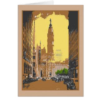 Vintage Style Philadelphia City Hall Greeting Card