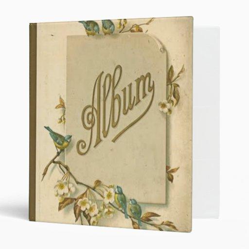 vintage style photo album binder