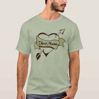 Vintage Style Pierced Heart T-Shirt