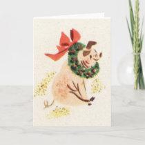 Vintage style pig greeting cards