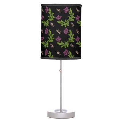 Vintage Style Pink IBN Floral Pattern Desk Lamps