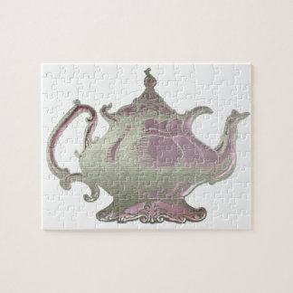 Vintage Style Pink Teapot Jigsaw Puzzle