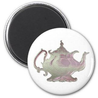 Vintage Style Pink Teapot Magnet