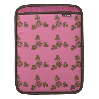 Vintage Style Pink with Roses Pattern iPad Sleeves