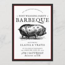 Vintage Style   Post Wedding   BBQ Pig Roast Invitation