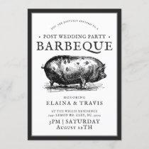 Vintage Style   Post Wedding Party   BBQ Pig Roast Invitation