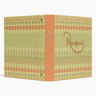 Vintage Style Recipe Book 3 Ring Binder
