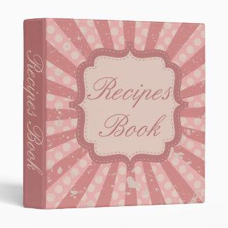 Vintage Style Recipes Book 3 Ring Binders