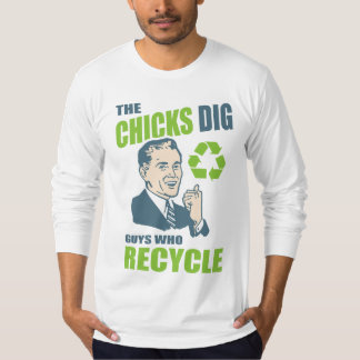 Vintage Style Recycling Guy Funny T-Shirt