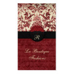 Vintage Style Red Black and Cream Business cards