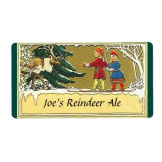 Vintage style Reindeer Ale brewing Beer Label