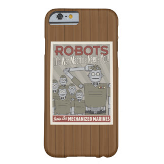 Vintage Style Robot Military Propaganda Barely There iPhone 6 Case