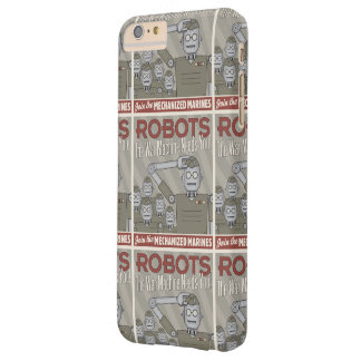 Vintage Style Robot Military Propaganda Barely There iPhone 6 Plus Case