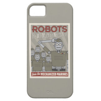Vintage Style Robot Military Propaganda iPhone 5/5S Case