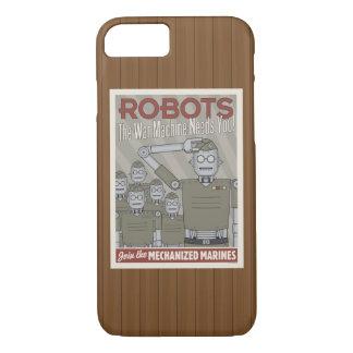 Vintage Style Robot Military Propaganda iPhone 8/7 Case