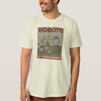 Vintage Style Robot Military Propaganda Shirt