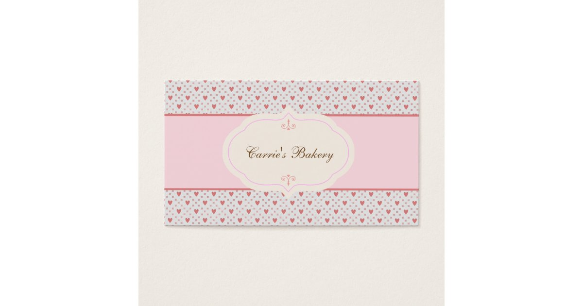Vintage Style Romantic Frame Bakery Business Card | Zazzle.com