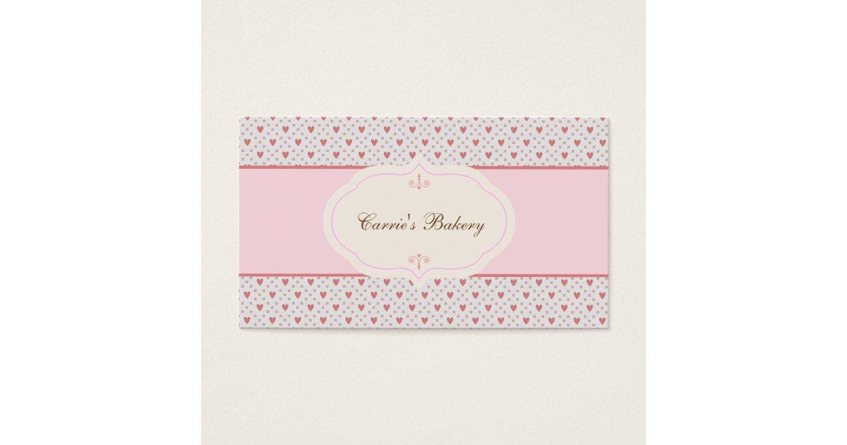 Vintage Style Romantic Frame Bakery Business Card | Zazzle.com