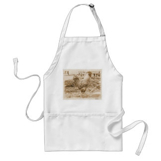 Vintage Style Rooster Photograph Adult Apron
