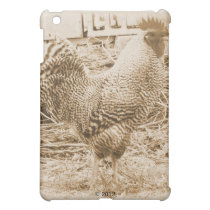 Vintage Style Rooster Photograph iPad Mini Case