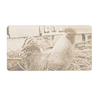 Vintage Style Rooster Photograph Label