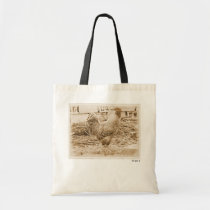 Vintage Style Rooster Photograph Tote Bag