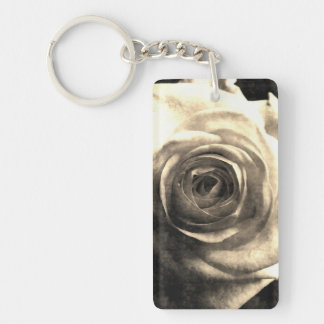 Vintage style rose 2 keychain