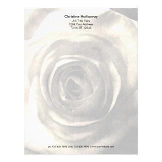 Vintage style rose 2 letterhead
